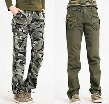 Womens Military Army Camo Cargo Pockets Pants Long Trousers Outdoor overalls