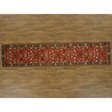 Persian Red Mahal Runner Carpet 100% Wool Rectangle 3 X 12 Hand Knotted Rug