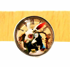 "Miniature Alice in Wonderland ""White Rabbit"" Design Wall Clock - I´m late !"
