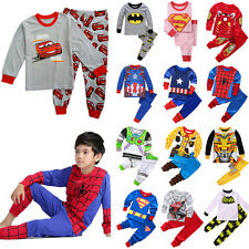 Boys Toddler Kids Pajamas Sleepwear Pyjamas Nightwear Outfit T-shirt Costume Set