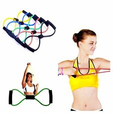 Resistance Band Yoga Pilates Abs Exercise Stretch Fitness Tube Gym Workout Bands