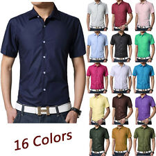 Fashion Mens Luxury Stylish Casual Polo Shirt Short Sleeve Slim Fit T-Shirt Tee.