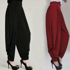 Womens Loose Harem Casual Long Elastic Pants Hip Hop Street Trouser bloomers