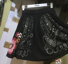 Desigual 73F2EA1 Summer 2017 Skirt Fal Lola dark Size S up to XXL