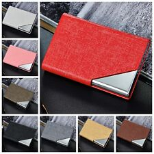 New Stainless Steel Business Name Credit ID Card Holder Box Wallet Pocket Case