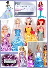 Disney Princess Singing Musical Light Up Doll, Rapunzel/Belle/Ariel/Tiana/Snow