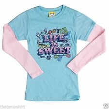 New Authentic Junk Food Life is Sweet Candy 2fer Girls Shirt