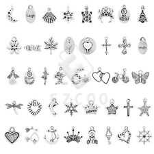 20-250pcs Tibetan Silver Spacer Loose Charm Pendant Jewelry Making 40 Style HC