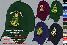 UNITS N TO Q UK & FOREIGN ARMY ROYAL AIR FORCE NAVY REGIMENT BASEBALL CAP HAT