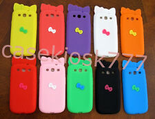 for samsung galaxy S3 cute hello kitty 3D bow case pink black purple /i9300 sIII