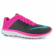 Nike FS Lite Running Shoes Womens Grey/Green/Pink Run Fitness Trainers Sneakers