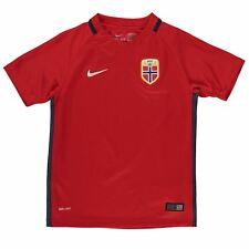 Nike Norway Home Jersey 2016 Juniors Red/White Football Soccer Top Shirt