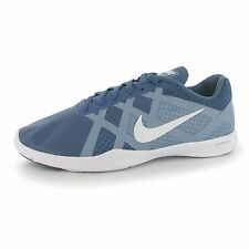 Nike Lunar Lux Training Shoes Womens Grey/White Gym Fitness Trainers Sneakers