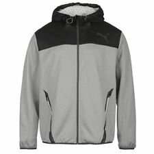 Puma Warm Fleece Track Jacket Mens Grey/Black Tracksuit Top Sportswear