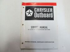 1980 Chrysler Outboard 6 7.5 180 Sailor Motors Service Manual WORN OB 3330 OEM