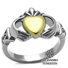Women's Ring Promise Ring Stainless Steel Heart Shape Gold Design Size 5 to 10