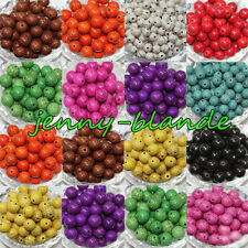 Lots Turquoise Gemstone Round Loose Spacer Beads Jewelry Making 4/6/8/10mm DIY