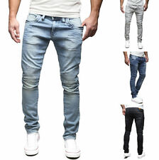 MERISH Mens Denim Jeans Pants Slim Fit Chino Jeans Trousers Biker Trend J1166