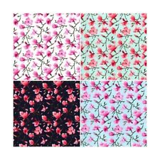 Silverstone Lane Cherry Blossom Tree Floral 100% Cotton Poplin Fabric