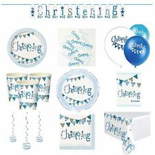 Blue On Your Christening Party Tableware Decorations Supplies Baby Boy Design