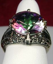 6ct *Mystic Topaz* Sterling Silver Art Deco Filigree Ring Size {Made To Order}