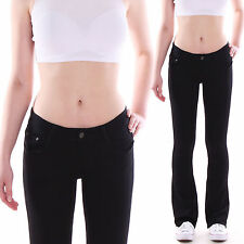Ladies Bootcut Low-rise Jeans Impact Trousers Flares Cut Stretch Low Waist S22