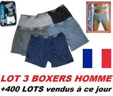 LOT 3 BOXERS MAN 100% COTON PANTIES SHORTS UNITED (4 Tailles: M, L, XL or XXL)