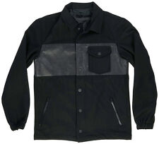 Black Scale Kearney Mens Wool Jacket Black S-L BLVCK SCVLE Zipper Button Fashion