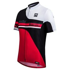 Airform Mesh Cycling Jersey in red. Made in Italy by Santini