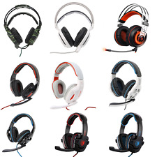 SADES SA902/A7  Stereo Gaming Headphone Over Ear Headset With Volume-Control Mic