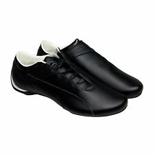 Puma Future Cat M1 Mens Black Leather Lace Up Sneakers Shoes