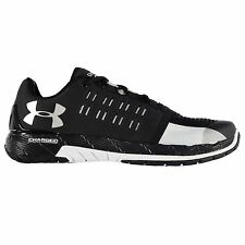 Under Armour Charged Core Running Shoes Mens Blk/Wht Sports Trainers Sneakers