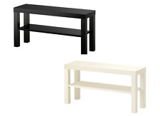 IKEA TV Bench Table Entertainment Unit TV Stand Cabinet Black/Off White LACK-NEW