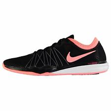 Nike Dual Fusion Hit Trainers Womens Black/Pink Sneakers Sports Shoes Footwear