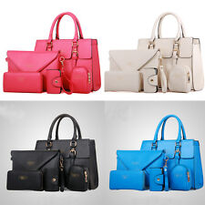 5PCS Elegant Womens Satchel Messenger Purse Cross Body Shoulder Bag Handbag G