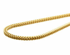 New Real 14K Yellow Gold 3MM Hollow Franco Box Link Chain Necklace 20-30 Inches