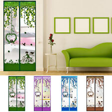 Summer Anti Mosquito Mesh Door Magnetic Tulle Curtains Net Screen Bug Insect Fly