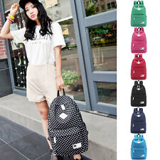 Korean Style Polka Dot Canvas Women Backpack School Bookbag Travel Rucksack Bag