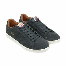 Gola Equipe Suede Mens Black Suede Sneakers Lace Up Shoes