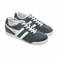 Gola Harrier Mens Gray Suede Lace Up Trainers Shoes