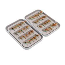 40 Pieces FISHING FLIES DRY FLY Fishing Lure with Waterproof Fly Box Case