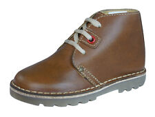 Hush Puppies Si Boys Leather Desert  Boots / Shoes - Brown