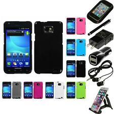 For Samsung Galaxy S2 i9100 Rigid Plastic Hard Snap-On Case Cover Accessories