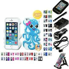 For Apple iPhone 5/5S/SE Silicone Design Skin Soft Phone Case Cover Accessories