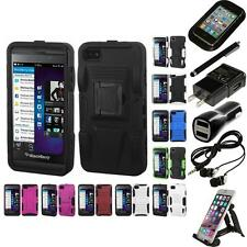 For BlackBerry Z10 Hybrid IMPACT Hard TUFF Hybrid Case Phone Cover Accessories