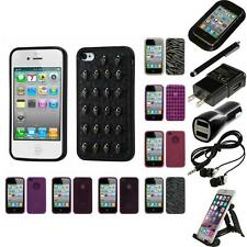 For Apple iPhone 4/4S TPU Rubber Skin Flexible Case Phone Cover Accessories