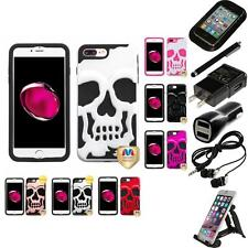 For iPhone 7 Plus [5.5] Hybrid Skull Skeleton Impact Hard Soft Case Accessories