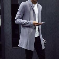 Mens Casual spring cardigan outerwear stylish slim fit coat