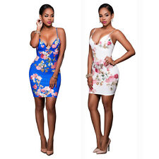 Sexy Women Fashion Sleeveless Cocktail Party Clubwear Print Lady Mini Dress G