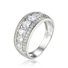 JewelryPalace 1.3ct Round Cubic Zirconia Cocktail Band Ring 925 Sterling Silver
